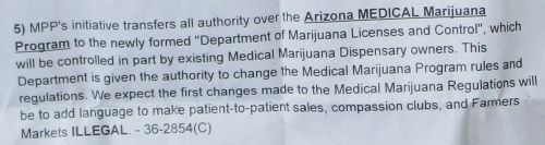 phoney baloney initiative by MPP or Marijuana Policy Project to legalize marijuana in Arizona